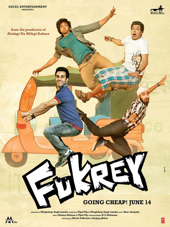 Fukrey (2013) Movie Watch Online In Full HD 1080p 300MB Download Free