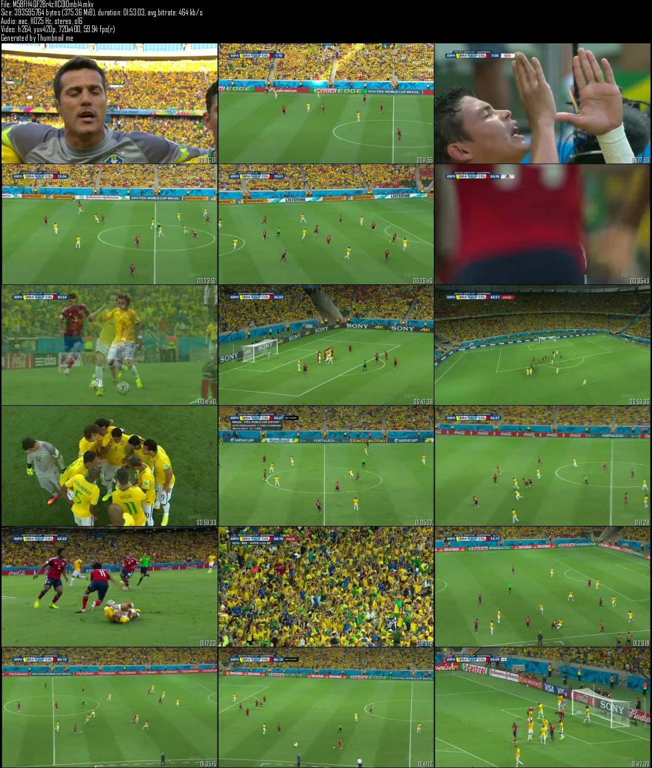 Fifa World Cup (2014) Brazil vs Colombia Quarter Final-2